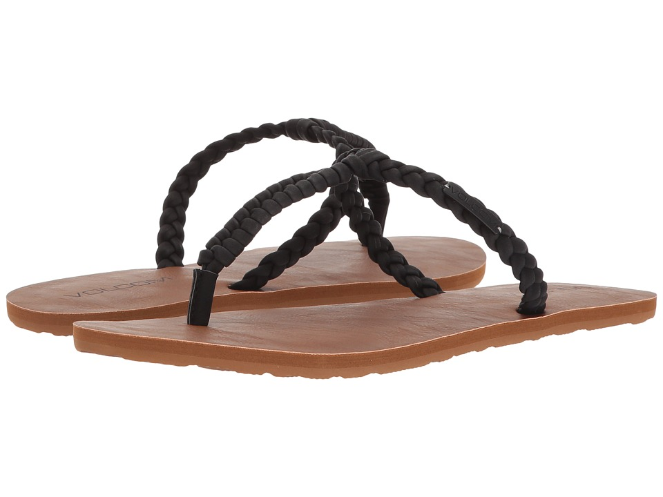 Volcom Fishtail Sandals (Black) Sandals