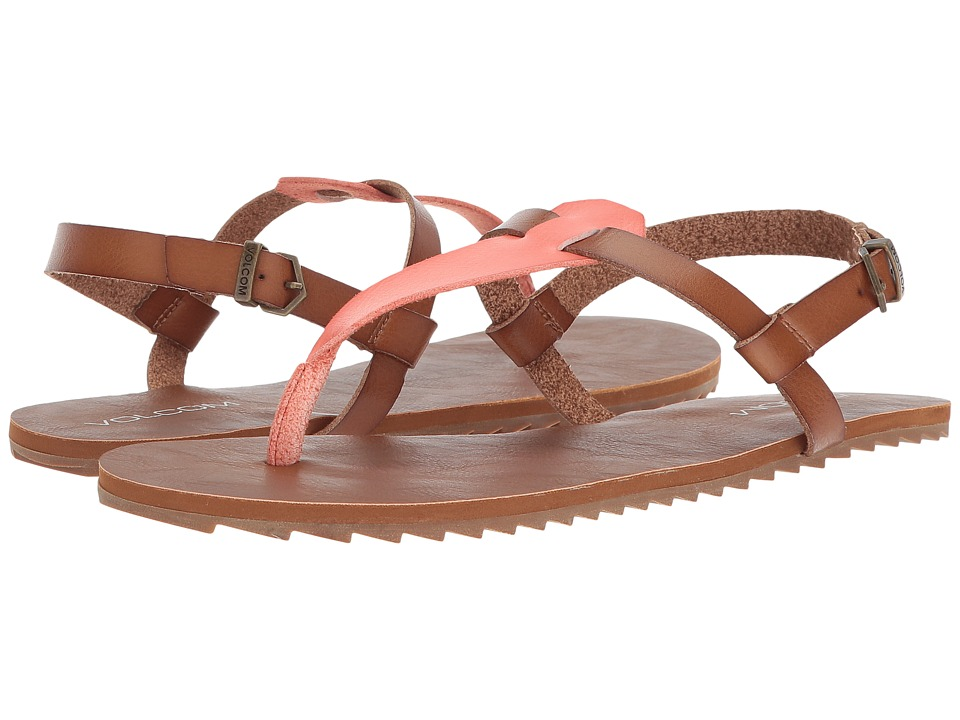 Volcom - Maya Sandal (Coral) Womens Sandals