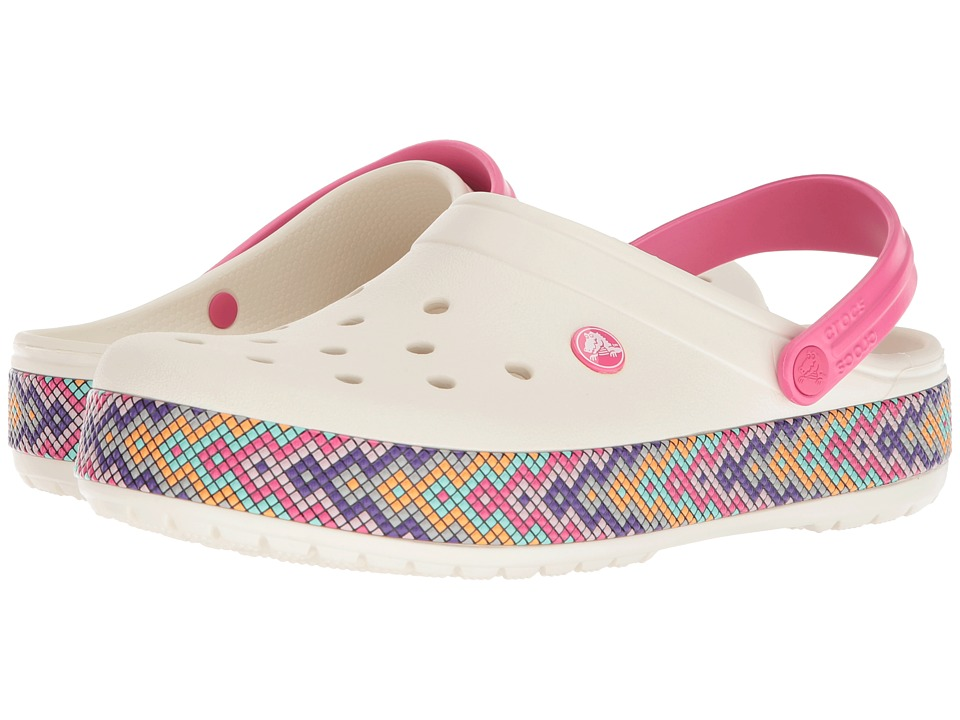 Crocs - Crocband Gallery Clog (Oyster 1) Clog Shoes