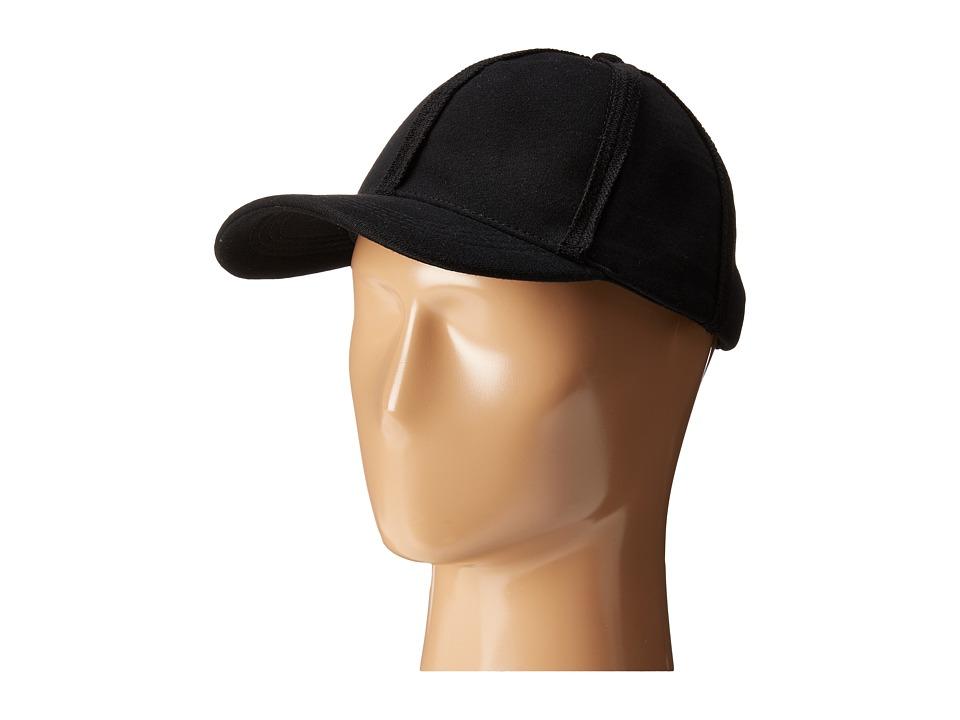 Steve Madden Sweatshirt Baseball Cap (Black) Baseball Caps