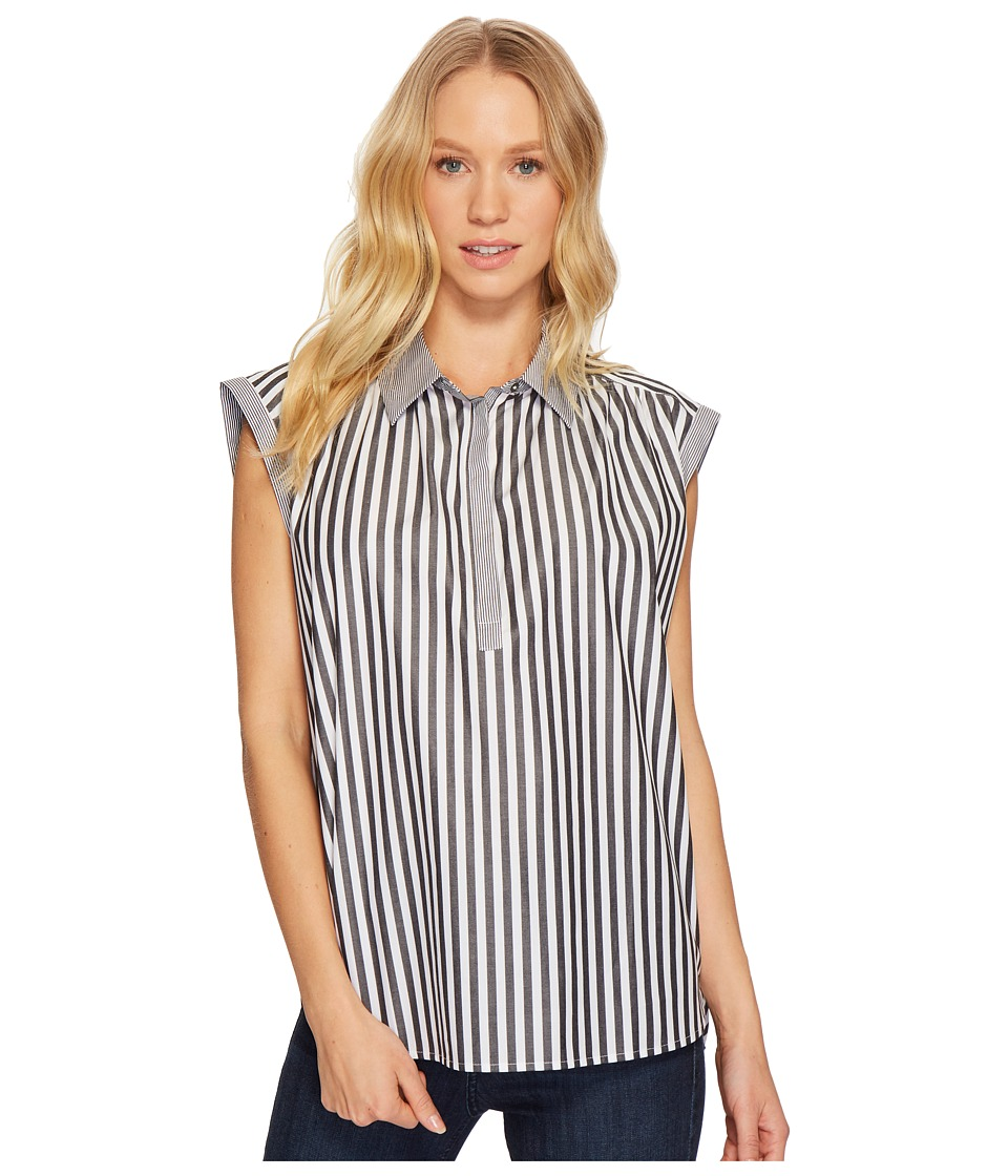 Image of AG Adriano Goldschmied - Abigail Top (Black/White) Women's Clothing
