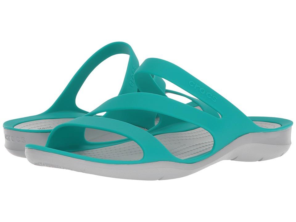 Crocs Swiftwater Sandal (Tropical Teal/Light Grey) Sandals