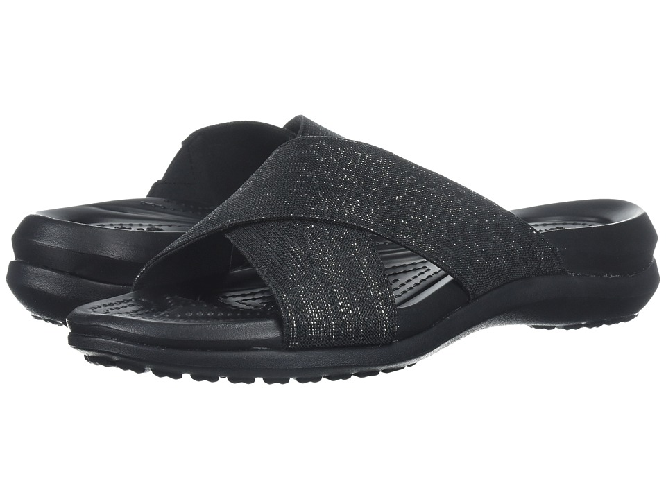 Crocs Capri Shimmer Xband (Black/Black) Women