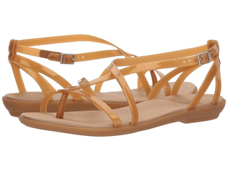 Crocs Isabella Gladiator Sandal (Dark Gold/Gold) Women's Shoes