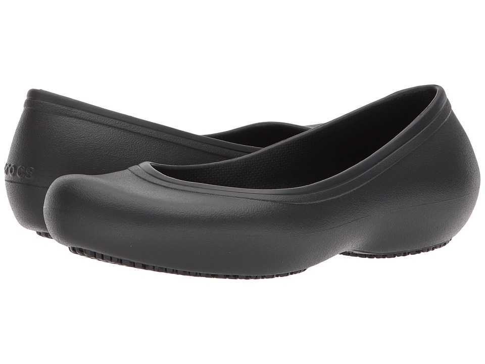 Crocs - Crocs At Work Flat (Black) Womens Flat Shoes