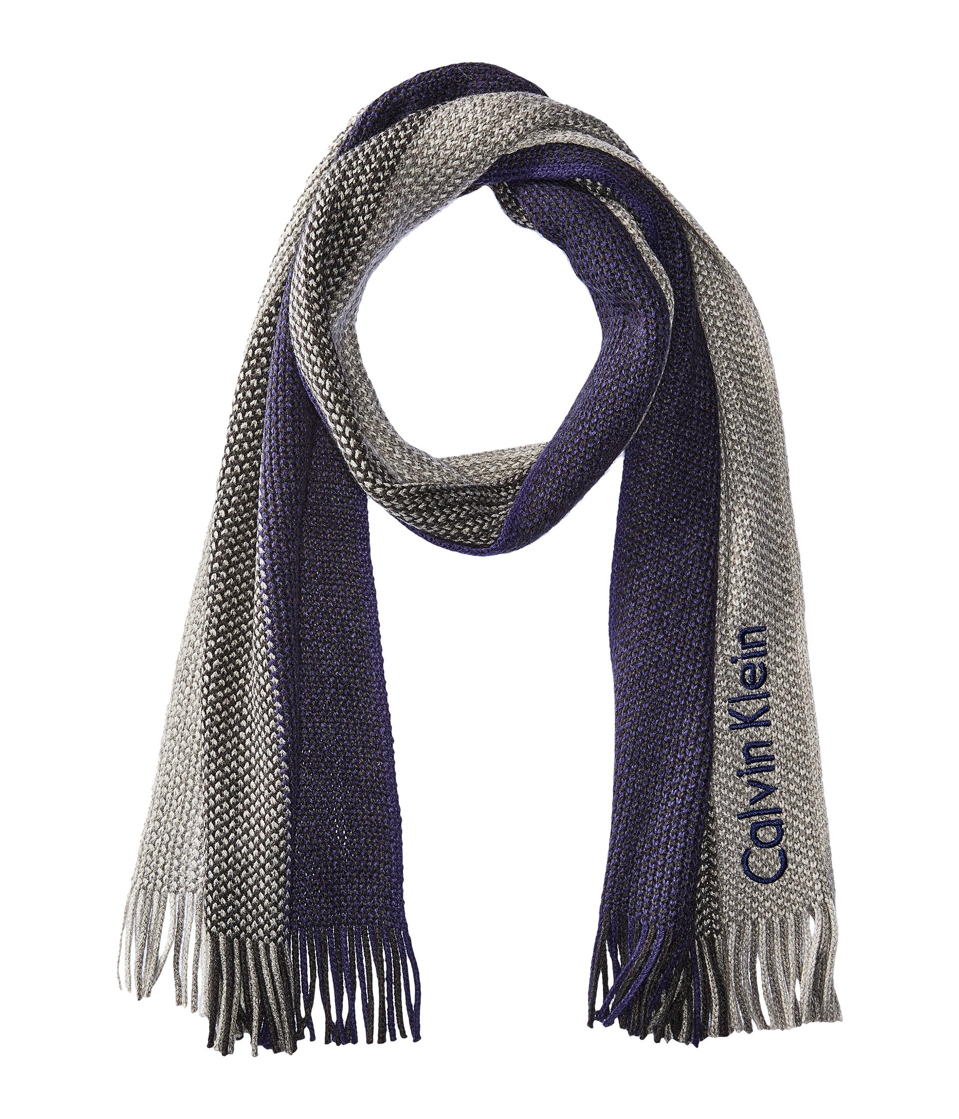 calvin klein ombre stripe scarf at zappos