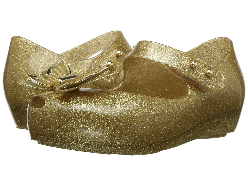 Mini Melissa - Mini Ultragirl Fly (Toddler/Little Kid) (Champagne Glitter) Girls Shoes