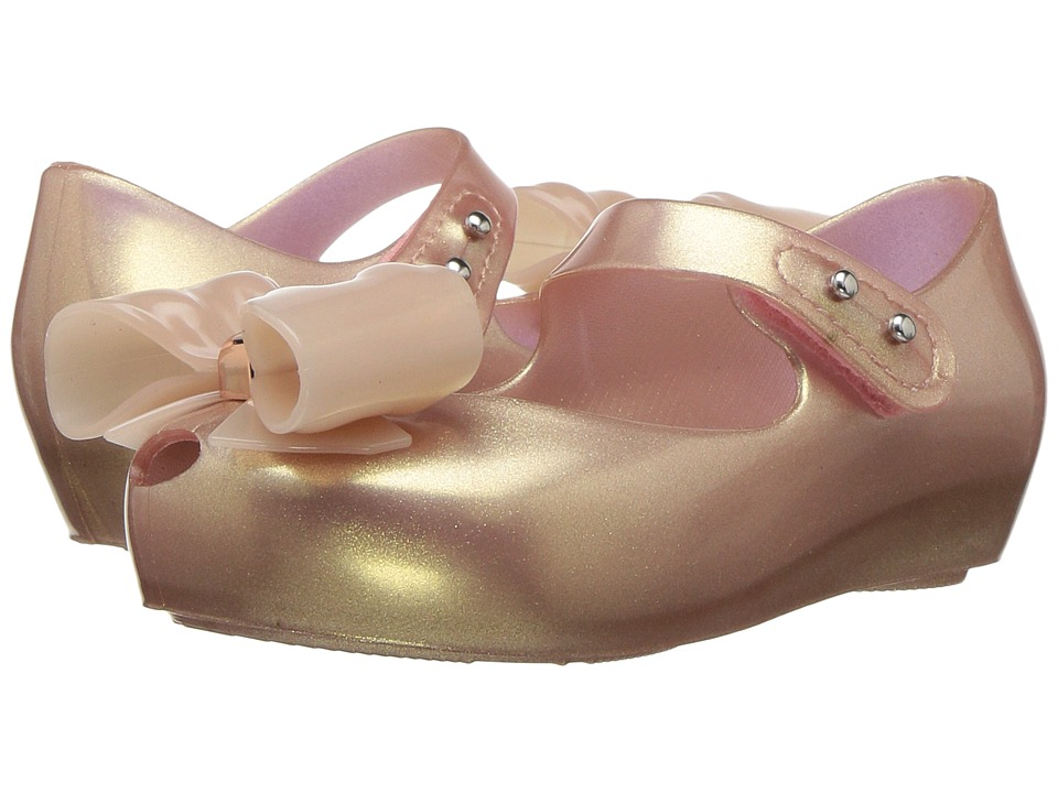 Mini Melissa - Mini Ultragirl Bow III (Toddler/Little Kid) (Metallic Pink) Girls Shoes