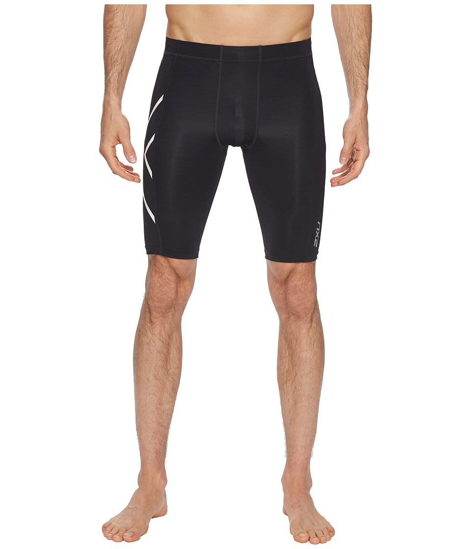 2XU Ice-X Compression Shorts (Black/Metallic White) Men's...