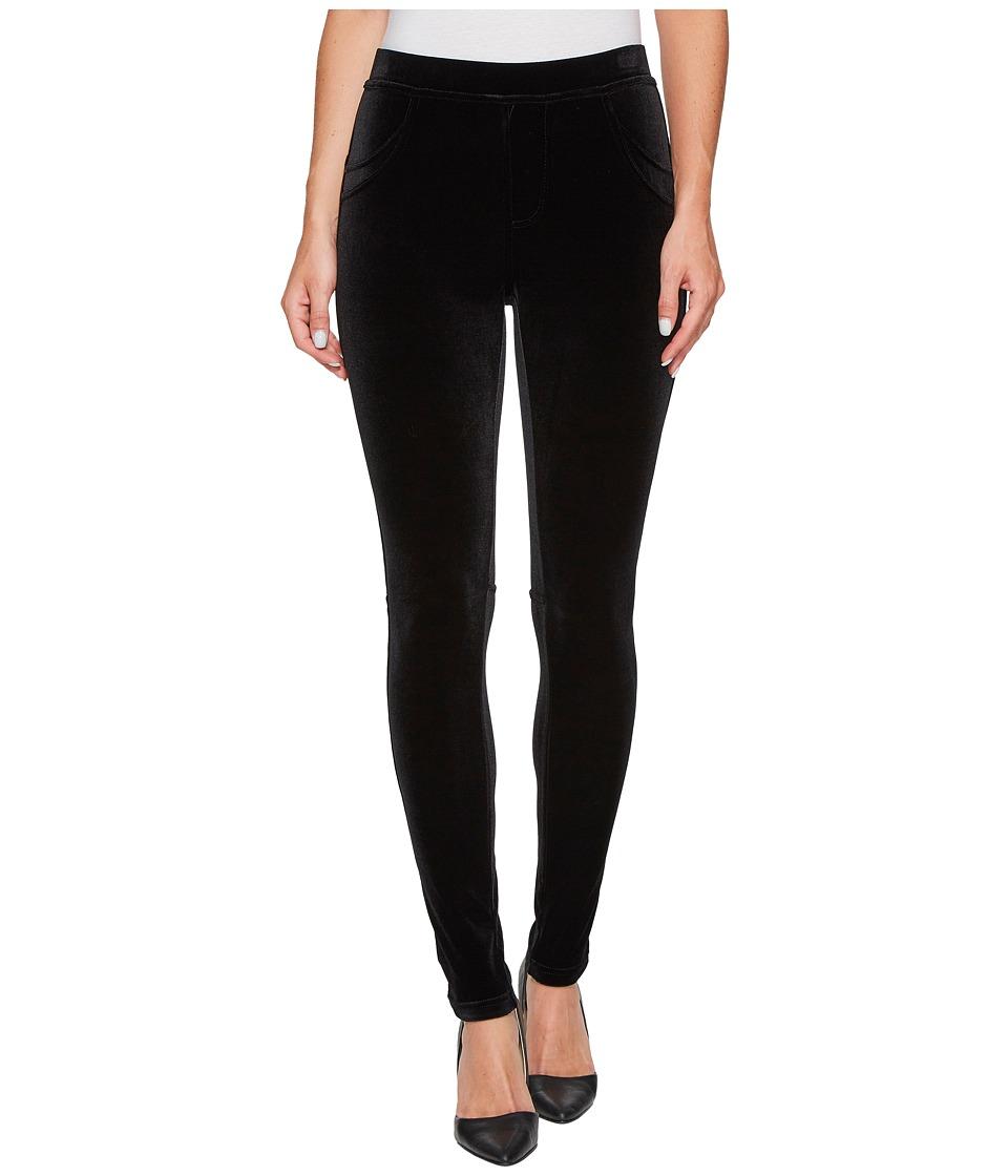 Calvin Klein Stretch Velvet Leggings (Black) Women