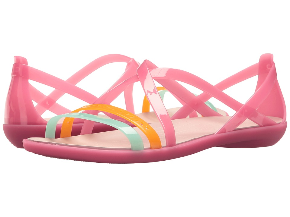 Crocs - Isabella Cut Strappy Sandal (Paradise Pink/Rose Dust) Womens  Shoes