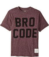 The Original Retro Brand Kids - Bro Code Short Sleeve Mock Twist Tee (Big Kids)