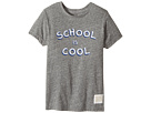 The Original Retro Brand Kids - School Is Cool Tri-Blend Short Sleeve Tee (Little Kids/Big Kids)