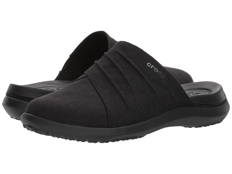Crocs - Capri Mule (Black/Black) Womens  Shoes