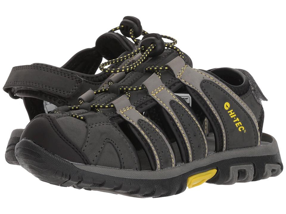 Hi-Tec Kids - Cove II (Toddler/Little Kid/Big Kid) (Black/Charcoal/Super Lemon) Boys Shoes