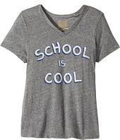 The Original Retro Brand Kids - School Is Cool Short Sleeve Tri-Blend V-Neck Tee (Big Kids)