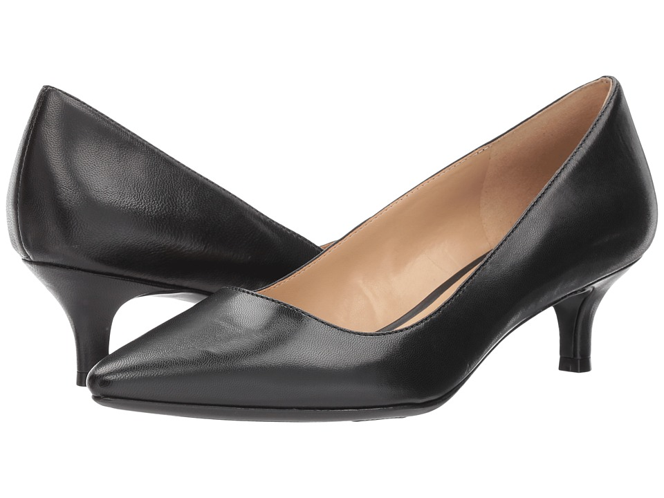 Naturalizer Pippa (Black Leather) 1-2 inch heel Shoes