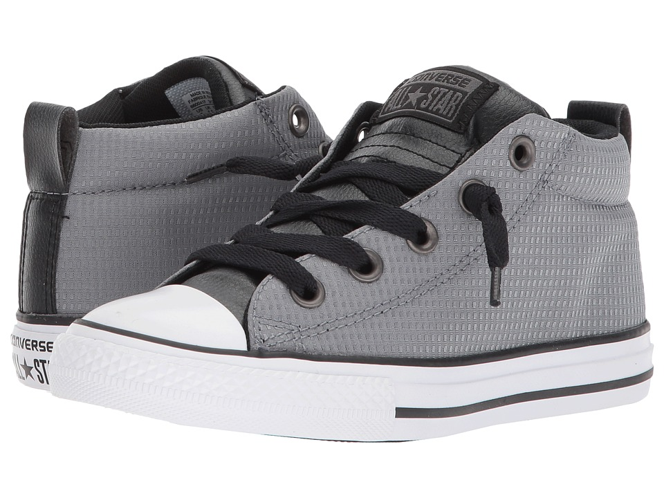 Converse Kids Chuck Taylor All Star Street Mid (Little Kid/Big Kid) (Cool Grey/Black/White) Boy