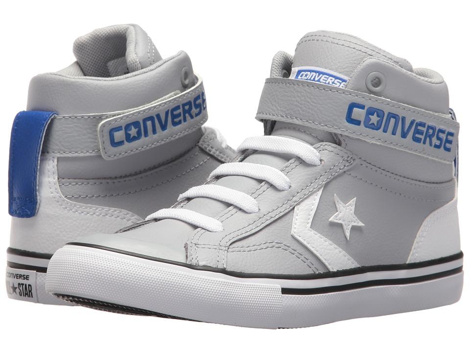 Converse Kids - Pro Blaze Strap Hi (Little Kid/Big Kid) (Wolf Grey/White/Hyper Royal) Boys Shoes