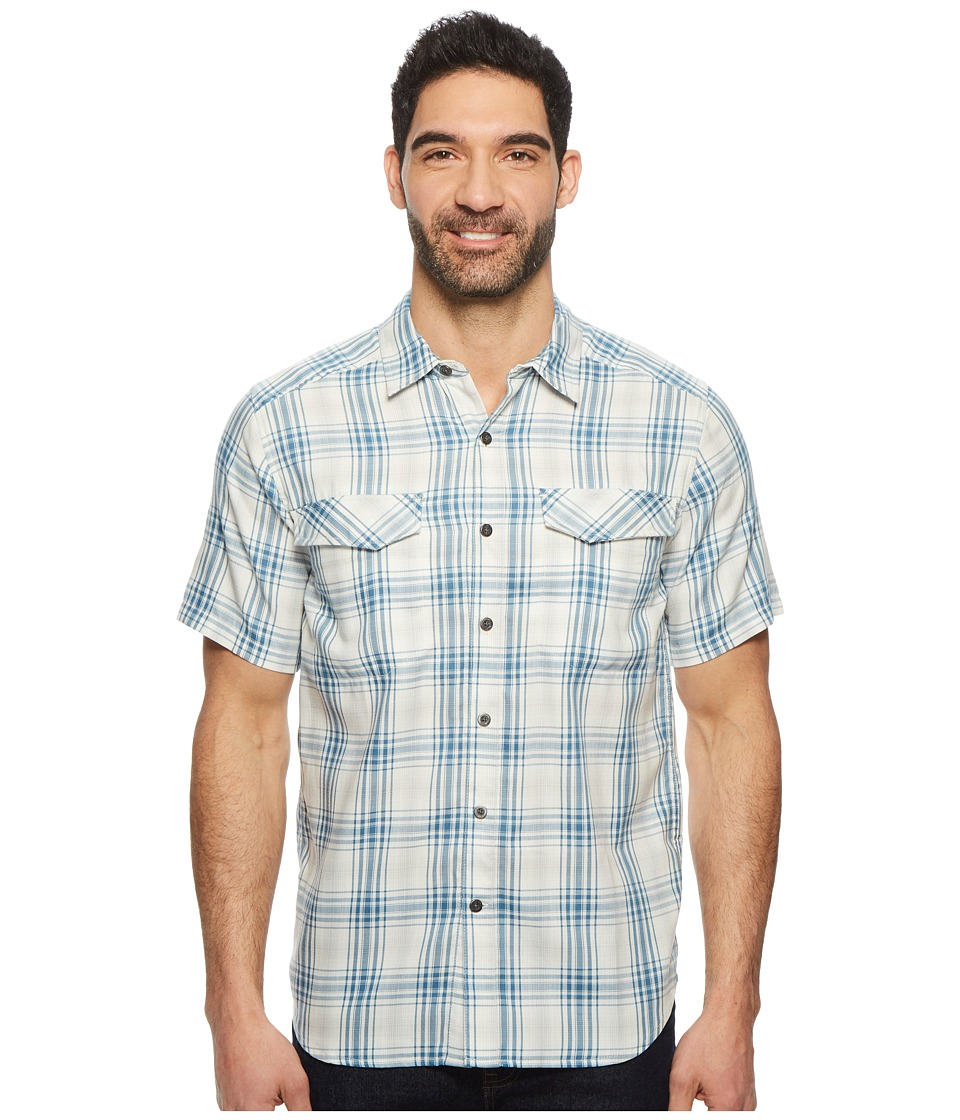 Royal Robbins Merinolux Plaid Short Sleeve Shirt (Light Pelican) Men