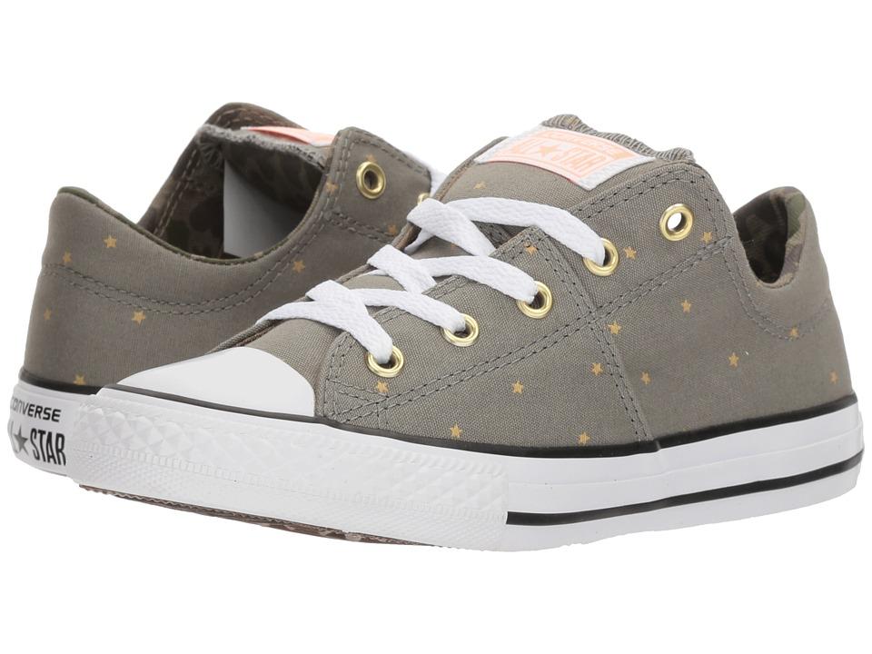 Converse Kids - Chuck Taylor All Star Madison Ox (Little Kids/Big Kids) (Dark Stucco/Khaki/White) Girls Shoes