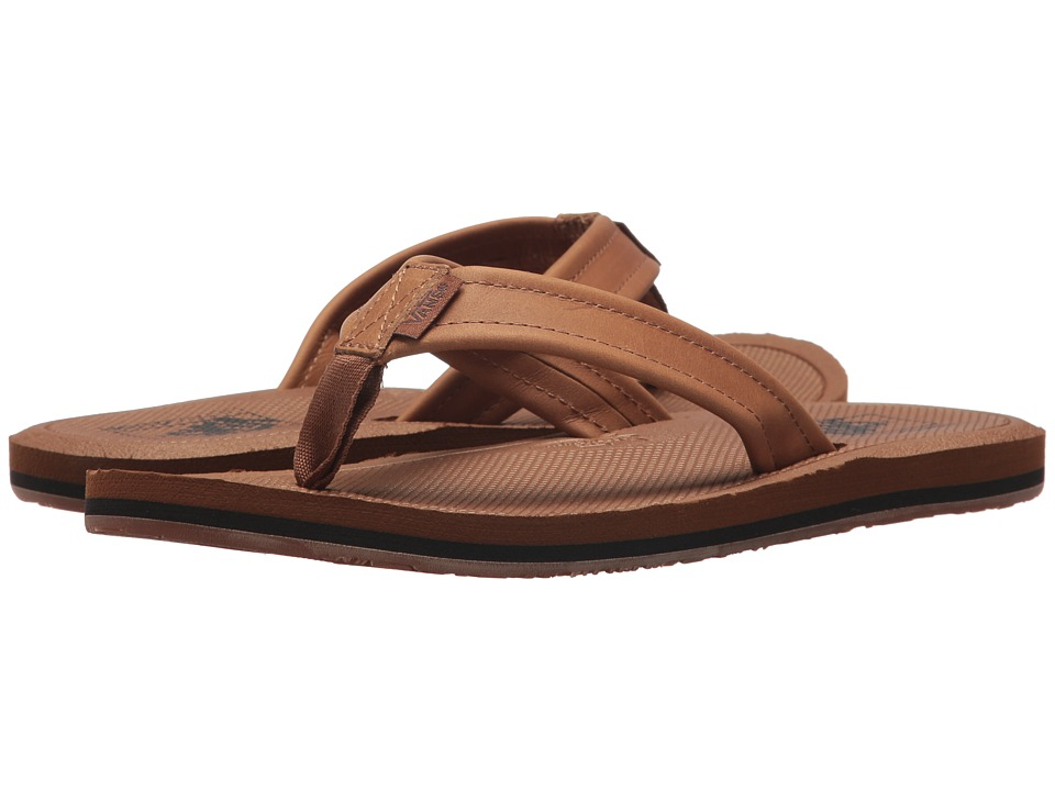 Vans - Nexpa Leather (Tan/Dachshund) Men's Sandals