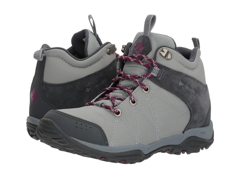 Columbia Fire Venture Mid Textile (Earl Grey/Dark Raspberry) Women's Shoes