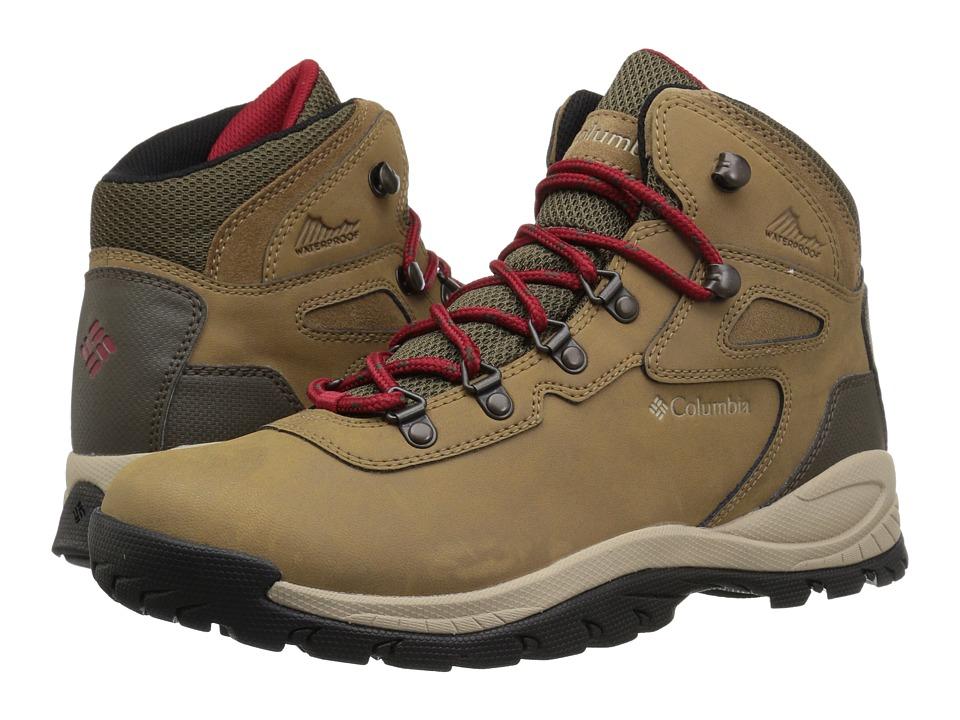 Columbia - Newton Ridge Plus (Delta/Red Velvet) Womens Hiking Boots