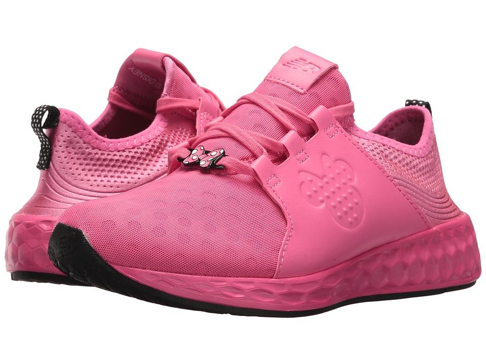 New Balance Kids KJCRZv1G Minnie Rocks the Dots (Big Kid) (Pink/Black) Girls Shoes