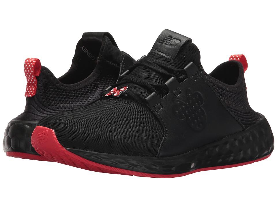 New Balance Kids KJCRZv1G Minnie Rocks the Dots (Big Kid) (Black/Red) Girls Shoes