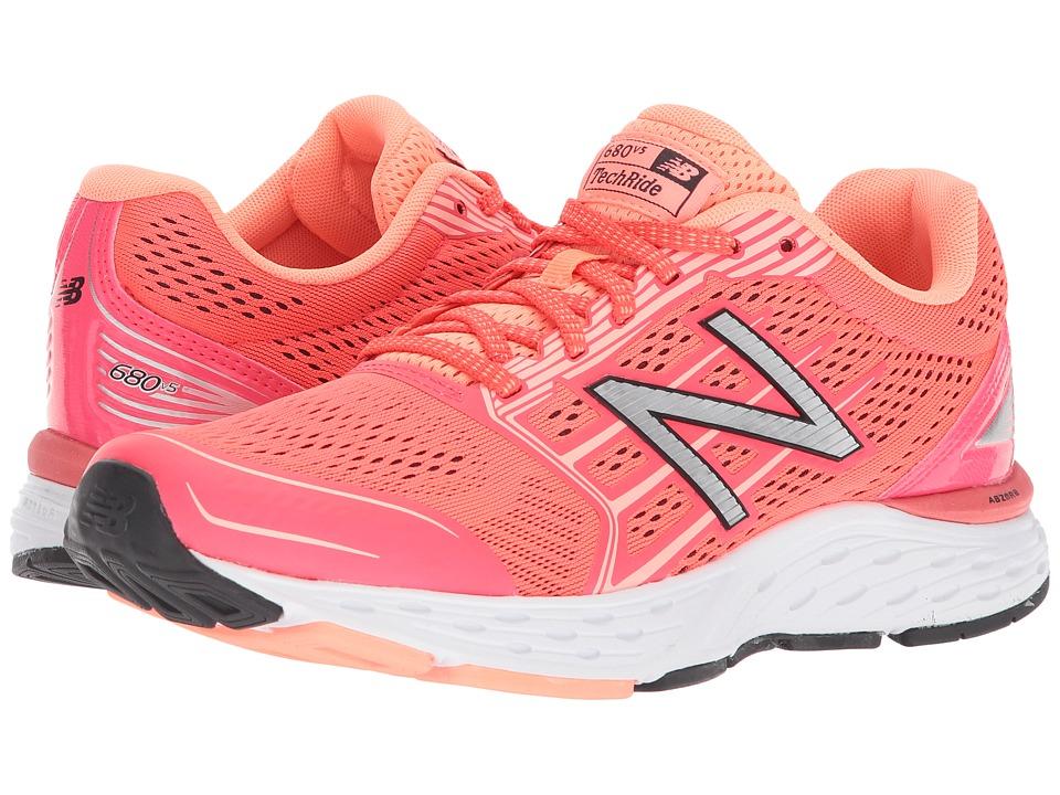 New Balance - 680v5 (Vivid Coral/Fiji) Womens Running Shoes