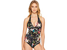 JETS by Jessika Allen Arcadia D/DD Cup Halter One-Piece Swimsuit