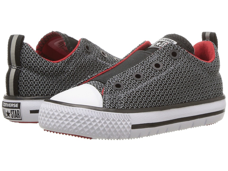 Converse Kids - Chuck Taylor All Star Hyper Lite Ox (Infant/Toddler) (Cool Grey/Enamel Red/White) Girls Shoes