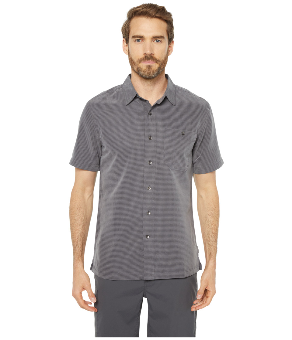 Royal Robbins - Mojave Desert Pucker S/S (Asphalt) Mens Short Sleeve Button Up