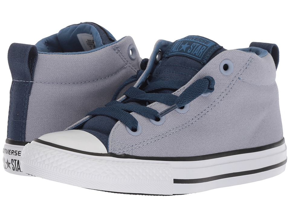 Converse Kids Chuck Taylor All Star Street Mid (Little Kid/Big Kid) (Glacier Grey/Navy/White) Boy