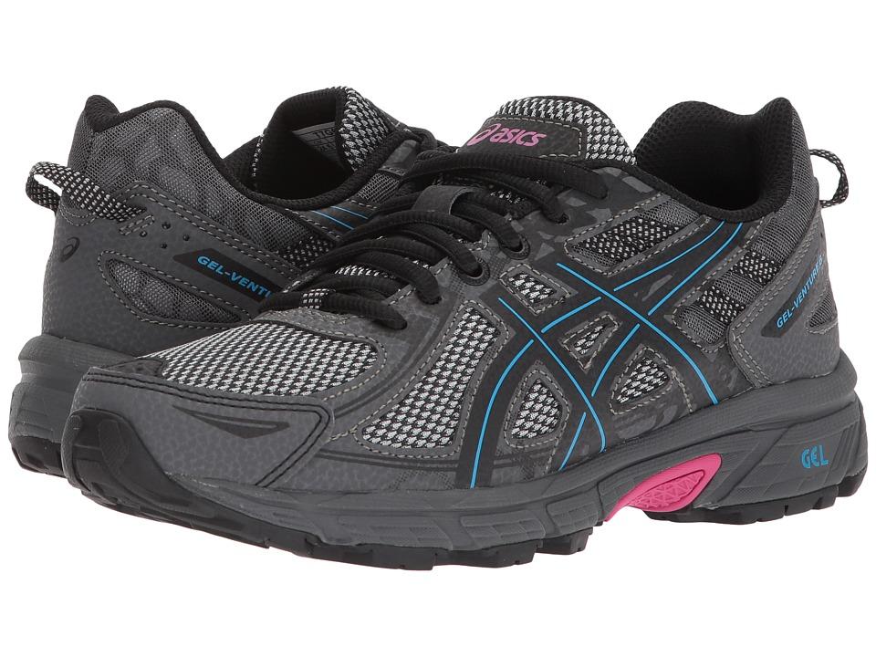 ASICS GEL-Venture 6 (Black/Island Blue/Pink) Women's Running Shoes