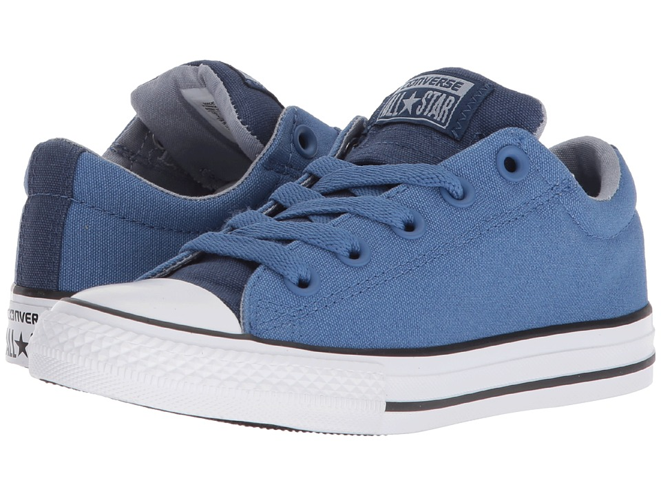Converse Kids - Chuck Taylor All Star Street Slip (Little Kid/Big Kid) (Navy/Nightfall Blue/White) Boys Shoes