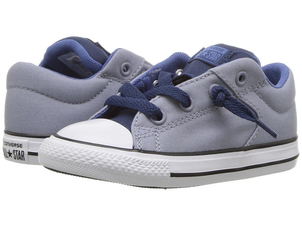 Converse Kids Chuck Taylor All Star High Street Slip (Infant/Toddler) (Glacier Grey/Navy/Nightfall Blue) Boys Shoes