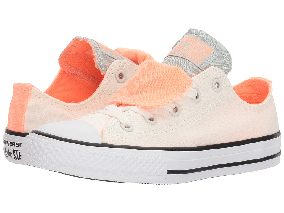 Converse Kids - Chuck Taylor All Star Double Tongue Ox (Little Kid/Big Kid) (Egret/Crimson Pulse/Dried Bamboo) Girls Shoes