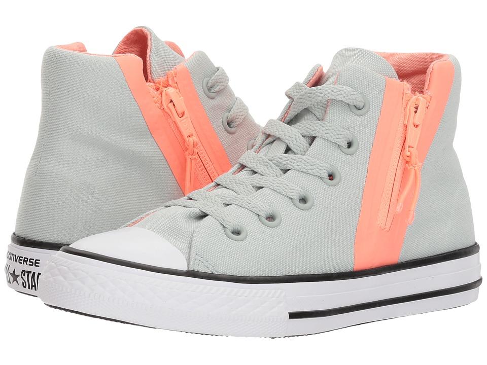 Converse Kids - Chuck Taylor All Star Sport Zip Hi (Little Kid/Big Kid) (Dried Bamboo/Crimson Pulse) Girls Shoes