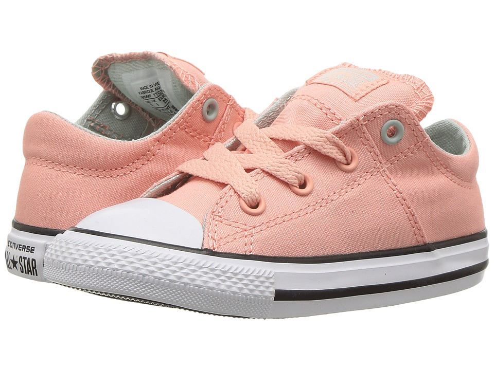 Converse Kids - Chuck Taylor All Star Madison Ox (Infant/Toddler) (Pale Coral/Dried Bamboo/White) Girls Shoes