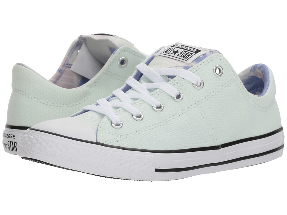 Converse Kids Chuck Taylor All Star Madison Palm Trees Ox (Little Kid/Big Kid) (Barely Green/Twilight Pulse) Girls Shoes
