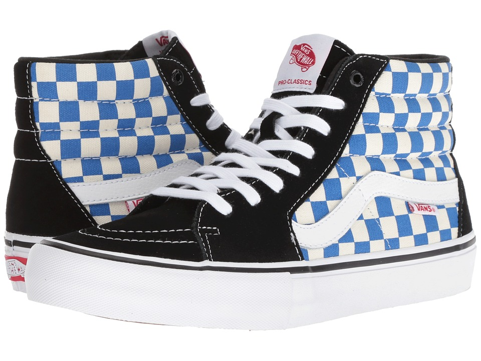 Vans - SK8-Hitm Pro ((Checkerboard) Black/Victoria Blue) Mens Skate Shoes