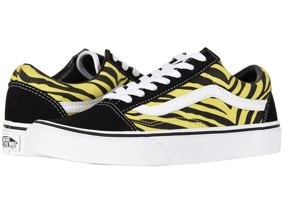 Vans Old Skooltm ((Zebra) Green Sheen/Black) Skate Shoes
