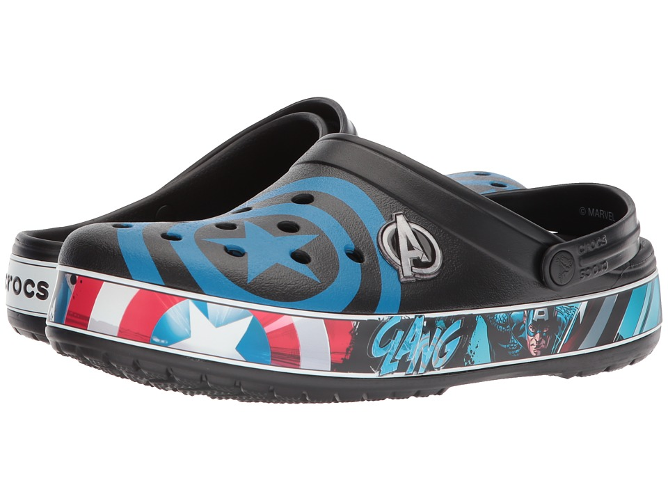 Crocs - Crocband Captain America Clog (Black/Blue Jean) Shoes