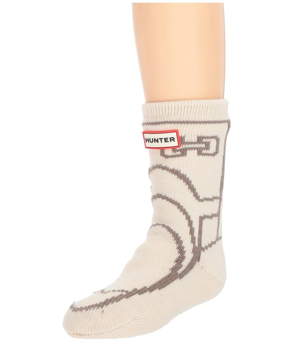 Hunter Kids Original Boot Slipper Socks (Toddler/Little Kid/Big Kid) (Cream) Kids Shoes
