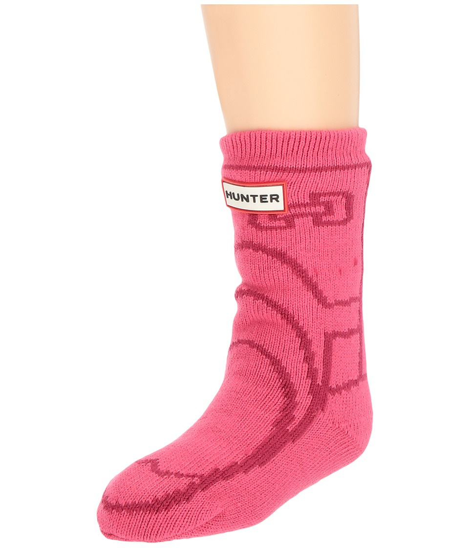 Hunter Kids - Original Boot Slipper Socks (Toddler/Little Kid/Big Kid) (Bright Pink) Kids Shoes