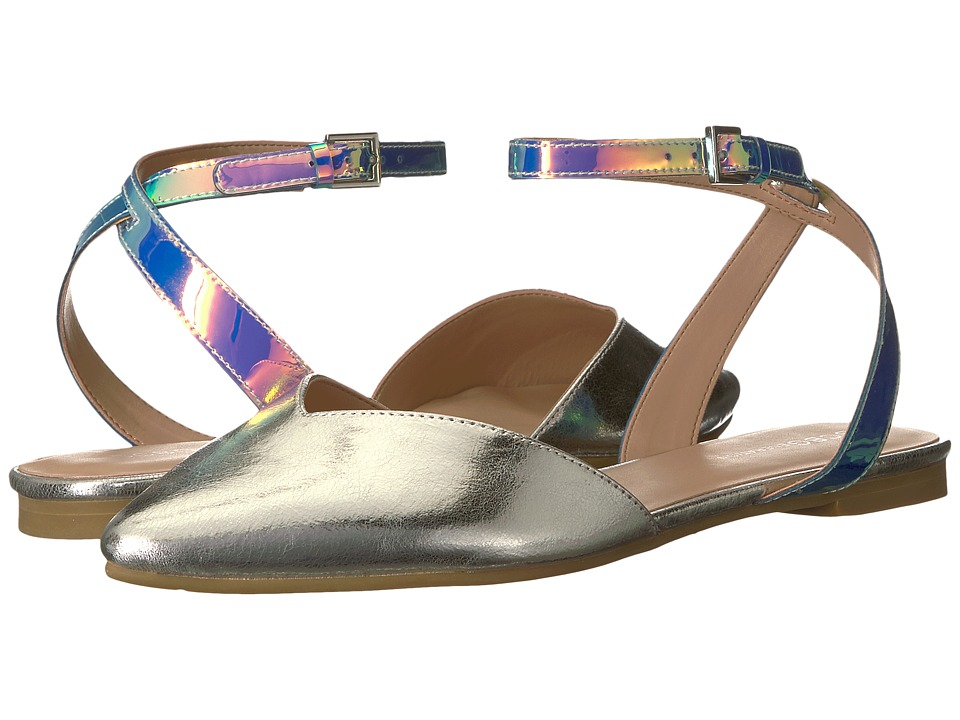 BCBGeneration - Mae (Blue Tint/Silver) Womens Flat Shoes