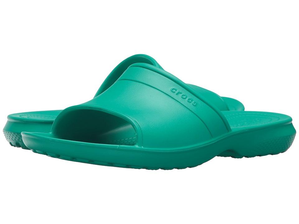 Crocs - Classic Slide (Tropical Teal) Slide Shoes