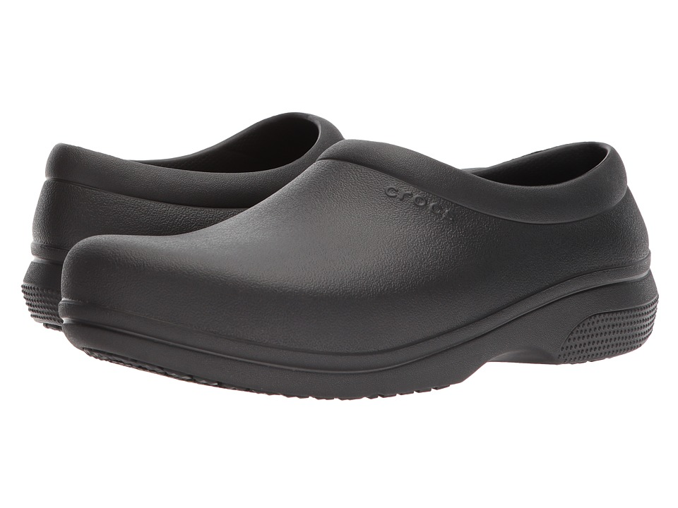 Crocs - On The Clock Work Slip-On (Black) Slip on  Shoes